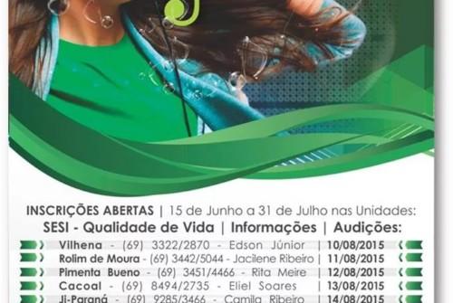 Festival Sesi Música – Edição Estadual 2015