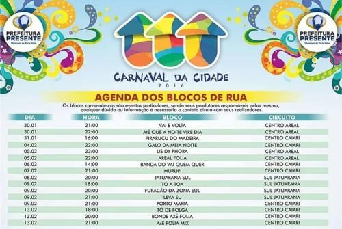 Carnaval da Cidade – Agenda dos Blocos de Rua