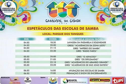 Espetáculos das Escolas de Samba