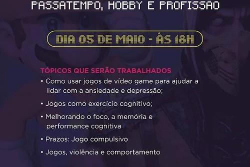 Nesta sexta tem a palestra Gaming, totalmente em inglês