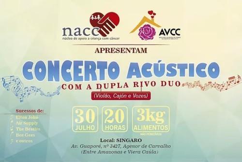 Concerto Acústico com a dupla Rivo Duo