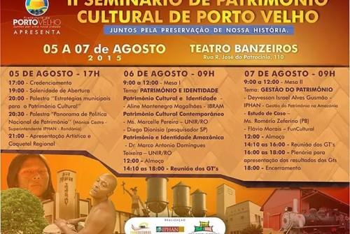 II Seminário de Patrimônio Cultural de Porto Velho