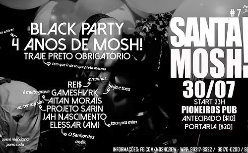 Santa! Mosh – 4 anos de Mosh! – Black Party