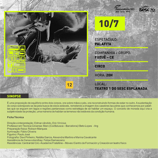 palco giratório 20 anos - palafita