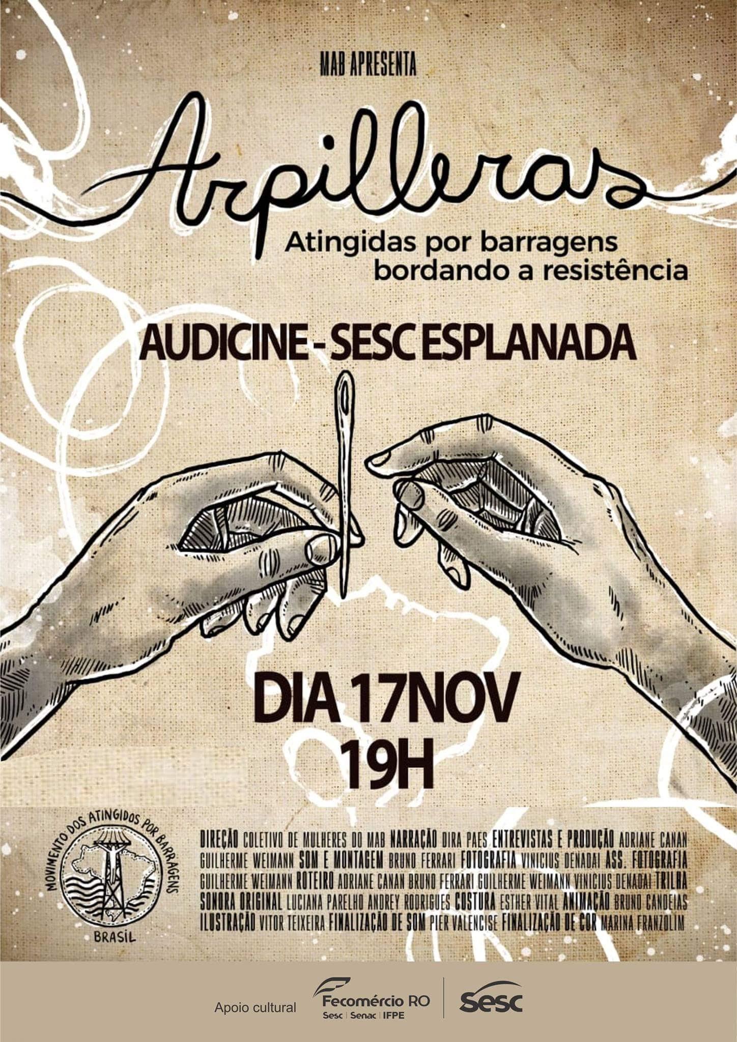 Arpilleras é lançado em Porto Velho
