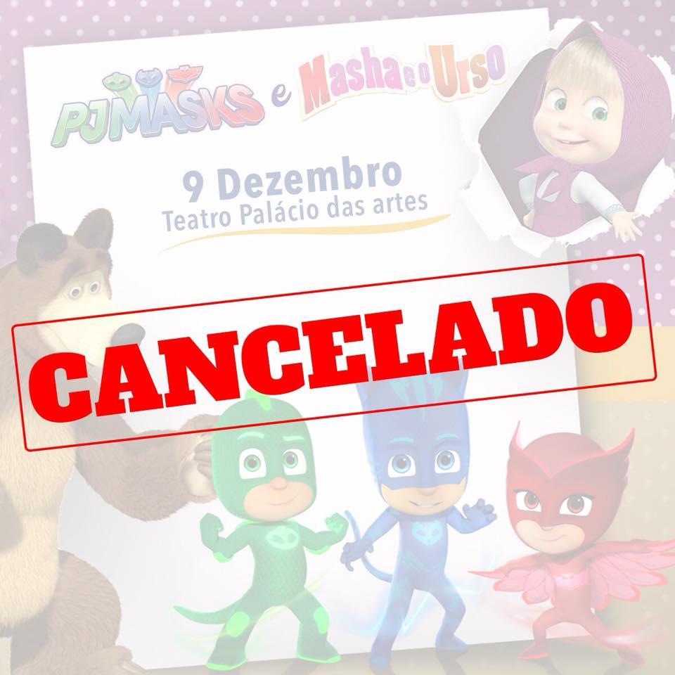 Nota de Cancelamento: Espetáculo PJ Masks e seus amigos