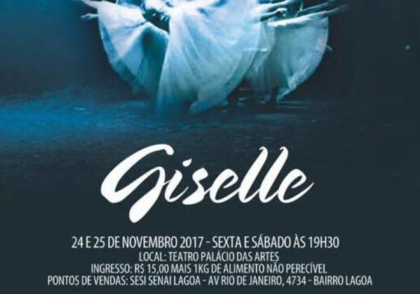 Giselle é apresentado no Palácio das Artes