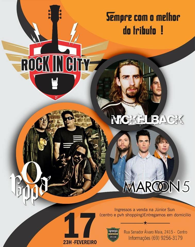 Rock in City: Tributos O Rappa + Maroon 5 + Nickelbeck